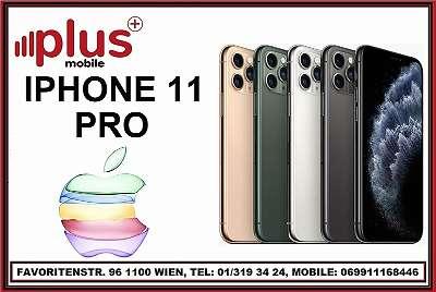 IPHONE 11 PRO 256GB NACHT GRÜN & SILBER, OVP, NEU, WERKSOFFEN, GARANTIE, EU-WARE, PLUS MOBILE !