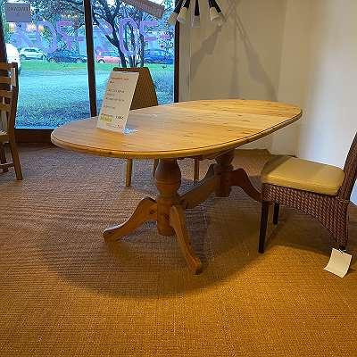 Auszugtisch Lamin oval 160-210 x 104 cm inklusive Auszugplatte 50 cm Kiefer massiv