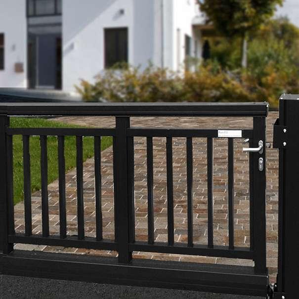 aluminium schiebetor freitragend 8430. Black Bedroom Furniture Sets. Home Design Ideas
