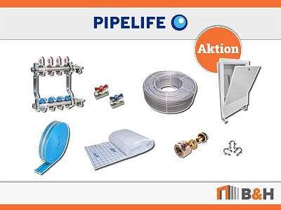 Fußbodenheizung Pipelife - Systemlösung für 150m2