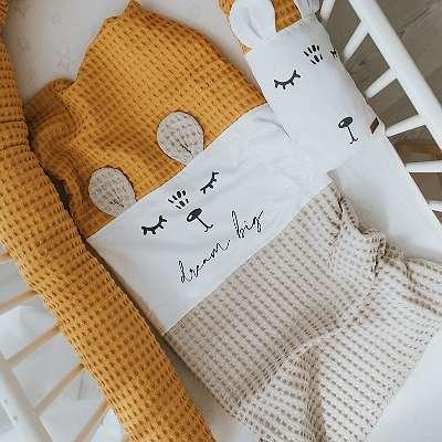 Babydecke Baumwolle 70x100cm (auf Wunsch mit NAMEN & GEBURTSDATUM)