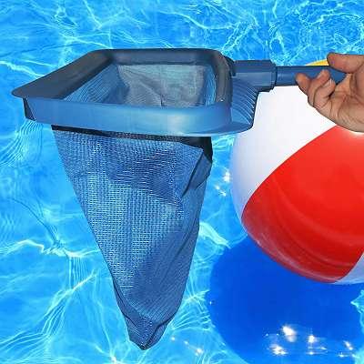Kescher für Pool und Teich, Tiefenkescher mit großem Netz
