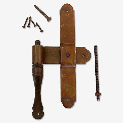 Türband / Kreuzband aus Gusseisen, vorgerostet - gefertigt nach antiker Vorlage