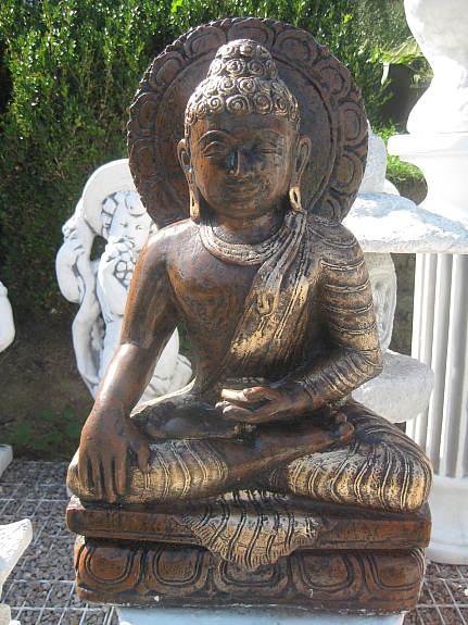 Thail Ndischer Buddha 55 Cm Steinfigur Garten Figur Teich