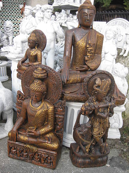 Thail ndischer buddha 55 cm steinfigur garten figur teich feng shui neu 70 3441 - Buddha figur garten ...