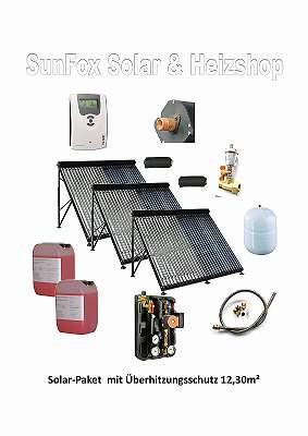 SunFox-Solar-Paket 12,30 m² mit Überhitzungsschutz