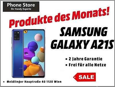 Samsung Galaxy A21S Duos Blau 32GB / Nagelneu, Org. Versiegelt/ Werksoffen, Frei Für Alle Simkarten/ Mit 24 Monate Hersteller Garantie