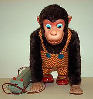 Affe mit Batteriebetrieb 1960