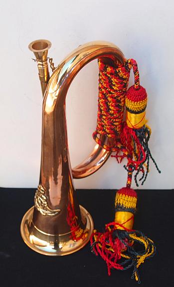 Trompete mit Kordel Kupfer L.28 cm