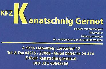 Gernot Kanatschnig KFZ Handel